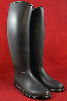 Equestrian rubber riding boots in black - Mens - Size 44 (UK 10)