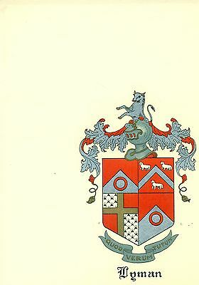 *Great Coat of Arms Lyman Family Crest genealogy, would look great framed!