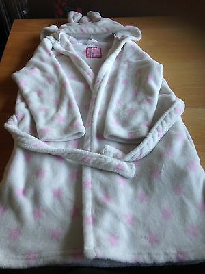 Girls Dressing Gown With Hood From Primark Age 11-12