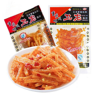 10bags X 22g Authentic Weilong Chinese Specialty Spicy Snack Food Gluten 卫龙辣条