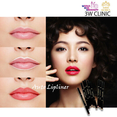 3W CLINIC Auto Lip Liner 15 Colour Dual Sided Twist UP type Korean Cosmetics