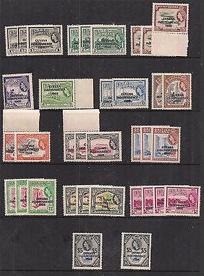 British Guiana - Independence Collection - Unchecked - Mostly MNH