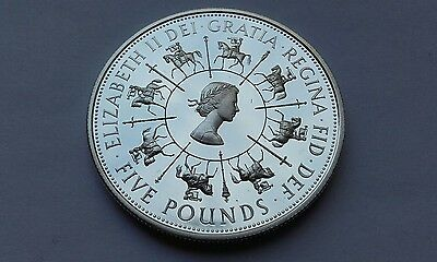 silver proof five pound coin