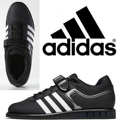 adidas Powerlift 2 Black Mens Weight Lifting Shoes Lightweight Trainers Size 10