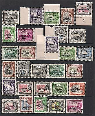 British Guiana - Small Used Independence Collection