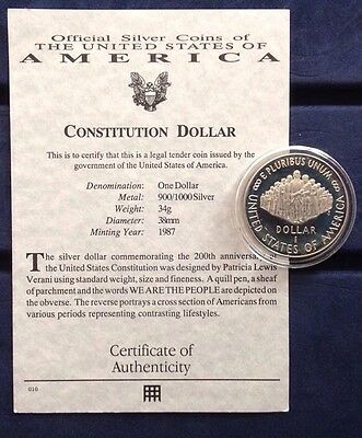 USA 1987 Constitution Dollar Silver Proof Coin