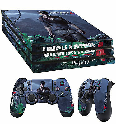 Ps4 Pro Skin Uncharted 4 A Thiefs End Drake Sticker 2 X Pad
