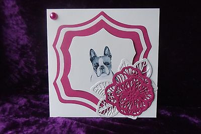 Boston Terrier Blank Greeting Card Handcrafted by Curiosity Crafts