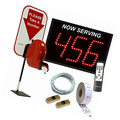 3-Digit Take A Number System with Counter Top Dispenser