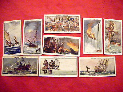 "9 Cards From Ogdens ""sea Adventure""  1939"