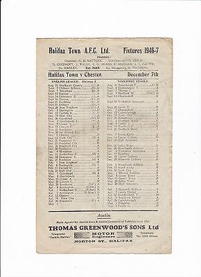 1946/47 Halifax Town v Chester City - (Division 3 North)