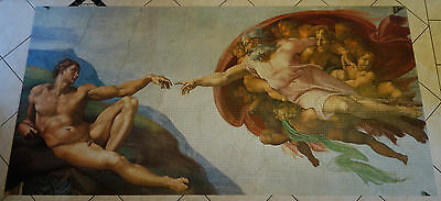 12000 piece puzzle - The Creation of Adam - Michelangelo - 100% Assembled !!!