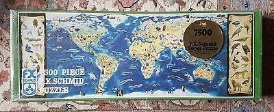 F.X.Schmid 7500 piece puzzle - Extinct, Protected, and Endangered Wildlife - New