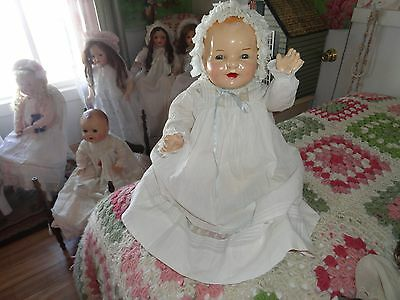 composition doll large antique baby doll   24  chubby legs an arms