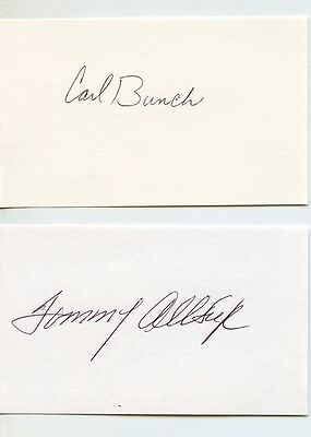 Buddy Holly related TOMMY ALLSUP CARL BUNCH signed autographed cards Crickets