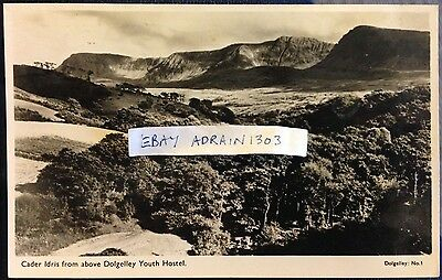 DOLGELLEY YOUTH HOSTEL VIEW OF CADER IDRIS 1955 RPPC Publ John Edwards, Barmouth