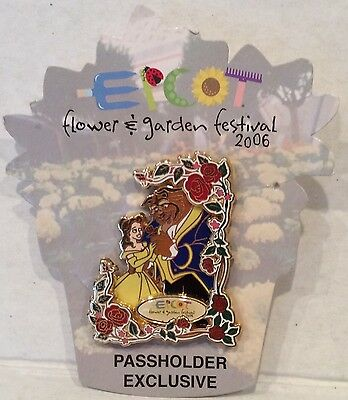 Disney Epcot 2006 Flower and Garden Festival Belle and the Beast LE Pin