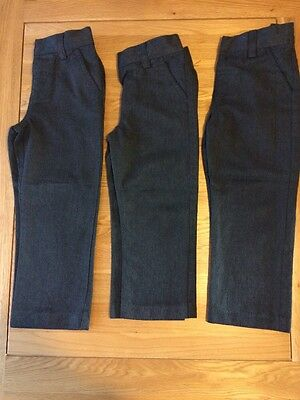 Next Grey School Trousers - Age 5 - Three Pairs