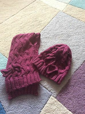 Matalan Girls Hat And Scarf Age 11-13 Years