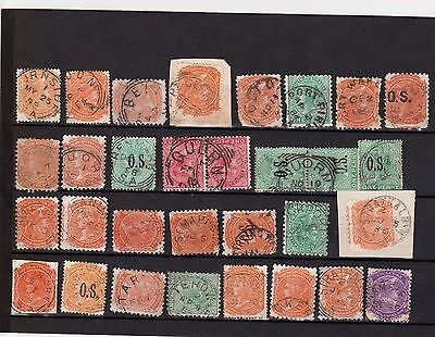 South Australia all-different, mainly rated postmarks on 31  SA stamps