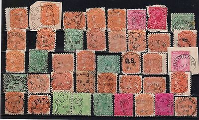 South Australia all-different, mainly rated postmarks on 41 SA stamps