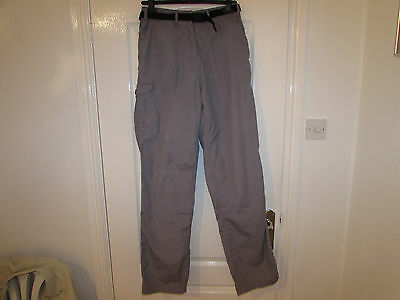 Used Womens Outdoor Trousers By Craghoppers Size L /size 14