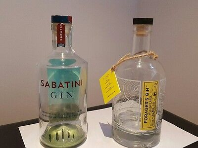 Sabatini and Forager's Empty Gin Bottles