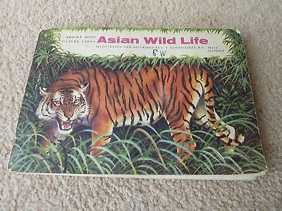 Vintage Brooke Bond Asian Wild Life book of picture cards