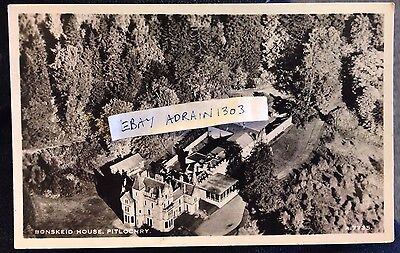 BONSKEID HOUSE PITLOCHRY RPPC Aerial View J B White A7735 Posted 1964