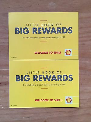 2 x Shell Little Book Of Big Savings Voucher Book Worth Up To £50