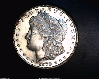 1879-S Morgan Silver Dollar In Gem Uncirculated With A Hint Of Proof Like