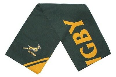 Official Asics South Africa Springboks Rugby Supporters Scarf