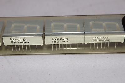 4 NEW- HP 7-Segment Yellow Display Module HDSP-4201 Common anode 2.6v