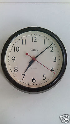 BAKELITE SMITHS SECTRIC LARGE ELECTRIC WALL CLOCK - C 1930s