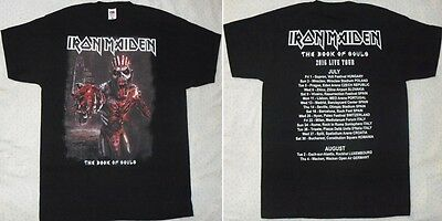 IRON MAIDEN 2016 book of souls Euro Tour Beautiful Super Live T-SHIRT MINT