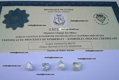 Rough Uncut Diamonds Parcel 16.15 Carat 100% Natural Gem Diamond High Value