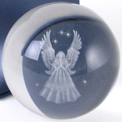 Beautiful Glass Guardian Angel Sphere  ~ Ball 3D Laser Crystal Protection