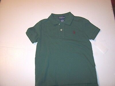 NEW POLO RALPH LAUREN green with red pony shirt baby little toddler boys 4