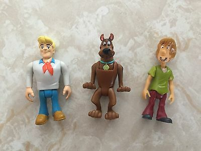 Scooby Doo Figures Shaggy Dog Puppy Fred Mini Cake Topper Lot