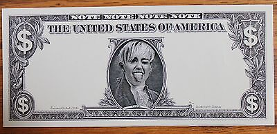 MILEY CYRUS RARE Money BILL USED ON STAGE OFFICIAL BANGERZ TOUR MERCHANDISE VIP