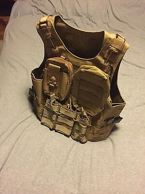 tactical plate carrier assualt vest airsoft army cadets