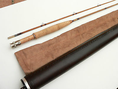 canne pêche mouche en Bambou refendu bamboo fly rod fishing cane split no Hardy