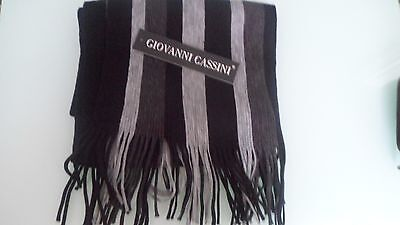 Giovanni Cassini Black & Grey Scarf (New with label)