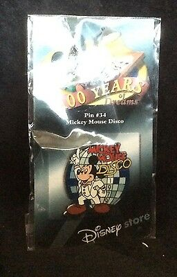 Disney Trading Pin Mickey Mouse Disco Pin 34 of 100 years of Dreams Mint on Card