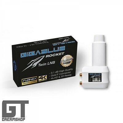 GigaBlue Rocket Twin LNB 0,1dB FULL HD+ HDTV 3D UHD 4K