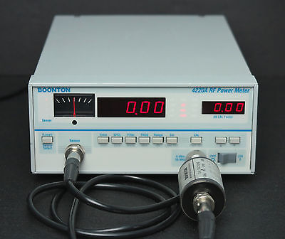Boonton 4220A Power Meter w/GPIB option with 4200-6E Sensor & Cable 0.1MHz-18GHz