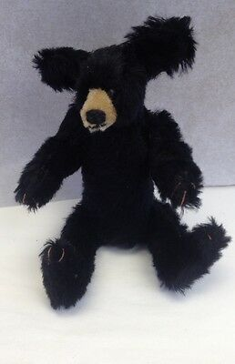 "Bearly There Jointed 8"" Black Bear Doll By Linda Spiegel"