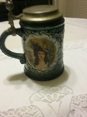 Vintage Marzi and Remy lidded beer stein