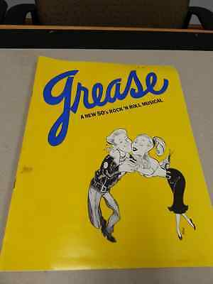 Grease Stagebill By Jim Jacobs And Warren Casey