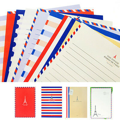 48sheets Beautiful Air mail Pattern Letter Lined Writing Stationery Paper Pad